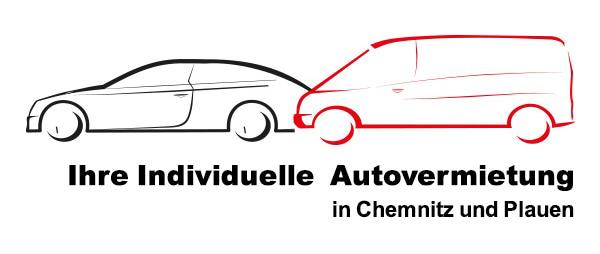 """Fahrzeugsilhouetten mit Schriftzug """"Ihre Individuelle Autovermietung in Chemnitz und Plauen"""""""
